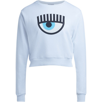 Clothing Women sweaters Chiara Ferragni Chiara Ferragni Eye white fleece White