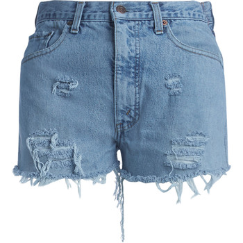"Clothing Women Shorts / Bermudas Chiara Ferragni Chiara Ferragni ""I'm over"" denim shorts Blue"