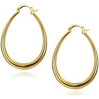 Watches Women Earrings Fashionvictime Earrings Hoops For Women By  - 9Ct Gold Plated Silver Jewel Doré,