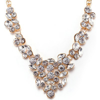 Watches Women Necklaces Fashionvictime Necklace For Women By  - 9Ct Gold Plated Silver Jewel- Crystal Transparent,