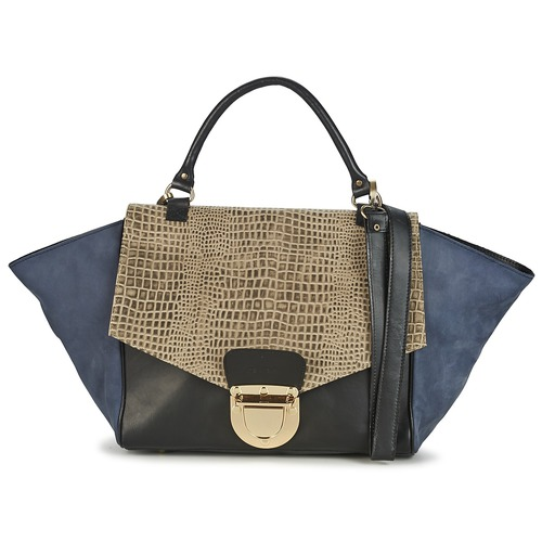 Bags Women Handbags Su-Shi MILA CROCO Blue / Black