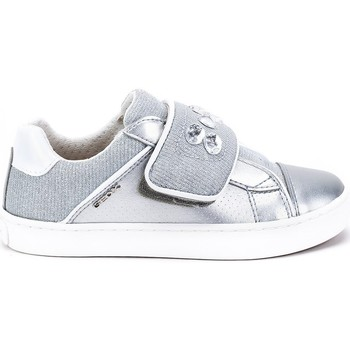 Shoes Children Low top trainers Geox JR Kilwi Girl Silver-Grey