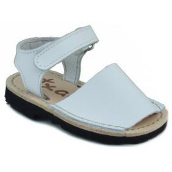 Shoes Children Sandals Arantxa Menorquinas handmade children WHITE