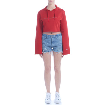 Clothing Women sweaters Chiara Ferragni Chiara Ferragni red hood crop fleece Red