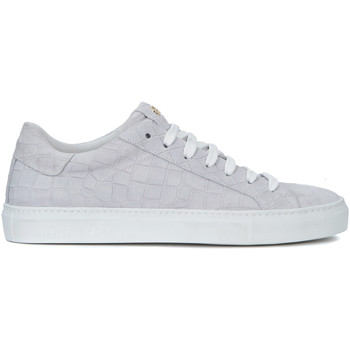 Shoes Men Low top trainers Hide&jack Essence Croco grey suede sneaker Grey