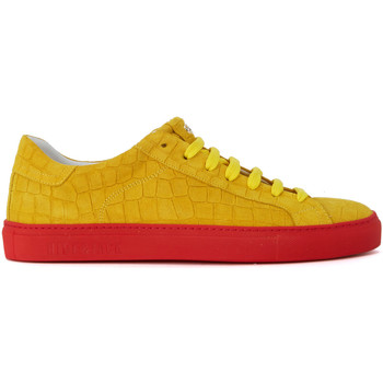 Shoes Men Low top trainers Hide&jack Essence Croco yellow suede sneaker Yellow