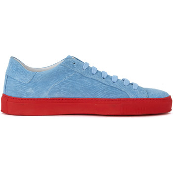 Shoes Men Low top trainers Hide&jack Gecko light-blue suede sneaker Light blue