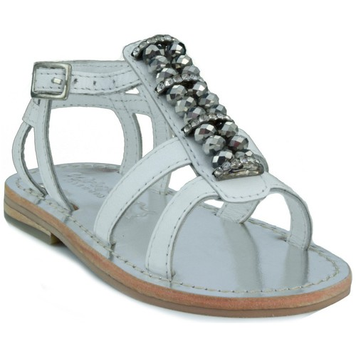Shoes Children Sandals Oca Loca OCA LOCA STRASS WHITE