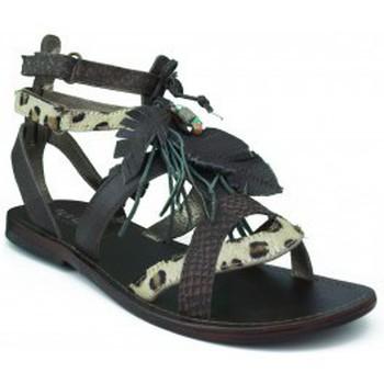 Shoes Girl Sandals Oca Loca OCA LOCA girl sandal white stones BROWN