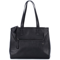 Bags Women Shopping Bags / Baskets Piquadro SHOPPING BAG NERO Nero