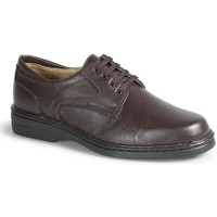 Shoes Men Derby Shoes Calzamedi very comfortable orthopedic Knight MARRON