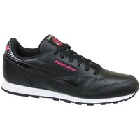 Shoes Children Low top trainers Reebok Sport CL Leather Girl Squad Black