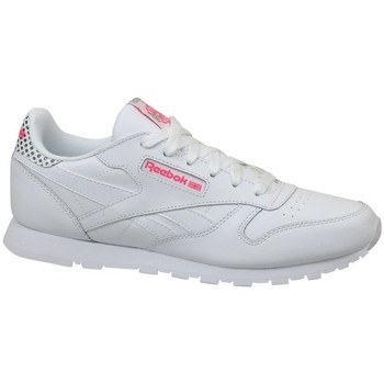 Shoes Children Low top trainers Reebok Sport CL Leather Girl Squad White