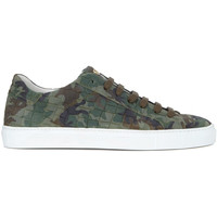 Shoes Men Trainers Hide&jack Sneaker  Essence Croco Against War Limited Edition Green