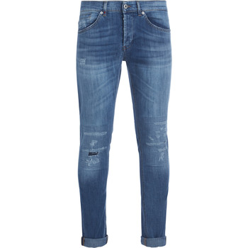 Clothing Men Jeans Dondup George light blue washed denim jeans Blue