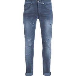 Clothing Men Jeans Dondup George light grey washed denim jeans Grey