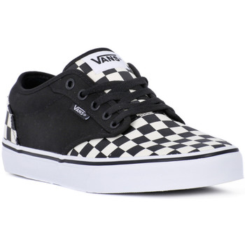 Shoes Men Trainers Vans ATWOOD CHECKBOARD Nero