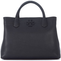 Bags Women Handbags Tory Burch McGraw black lather handbag Black