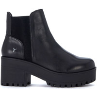 Shoes Women Heels Windsor Smith Icon black leather ankle boots Black