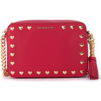 Bags Women Shoulder bags MICHAEL Michael Kors Ginny ultrapink leather shoulder bag with hearts Pink
