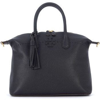 Bags Women Handbags Tory Burch McGraw black leather handbag Black