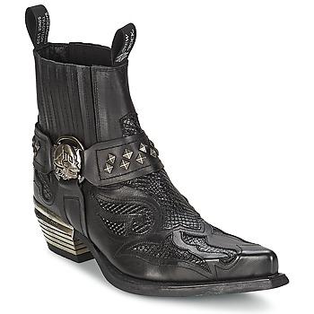 Shoes Women Mid boots New Rock PRETO Black