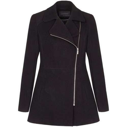 Clothing Women coats Anastasia Short Zip Winter Jacket Black