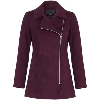 Clothing Women coats Anastasia Womens Burgandy Short Zip Winter Jacket Red