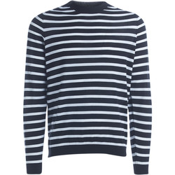 Clothing Men jumpers Grifoni white and black striped pullover Black