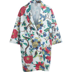Clothing Women coats Semicouture Sigmund floral pattern coat Multicolour