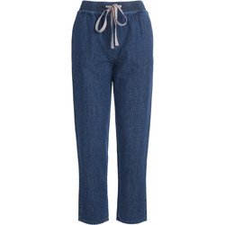 Clothing Women straight jeans Semicouture Buddy blue wide jeans Blue