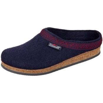 Shoes Women Slippers Stegmann Navy Wollfilz Black