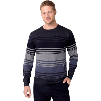 Clothing Women jumpers Krisp Striped Crew Neck Woollen Jumper Blue