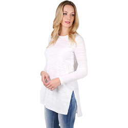 Clothing Women Long sleeved tee-shirts Krisp Longline Cotton Jersey Top White