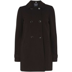Clothing Women coats Anastasia Ex Dorothy Perkins Double Breasted Black Swing Coat Black