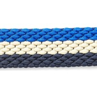 Clothes accessories Men Belts The Idle Man Elastic Weave Belt Blue, Stone & Navy Blue