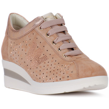 Shoes Women Low top trainers Melluso NRC NUDE Rosa