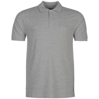 Clothing Men short-sleeved polo shirts Pierre Cardin Basic Polo Grey