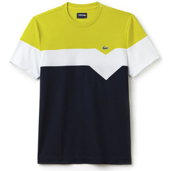 Clothing Men short-sleeved t-shirts Lacoste - Tee SS - Soda/White/Blue Multicolour