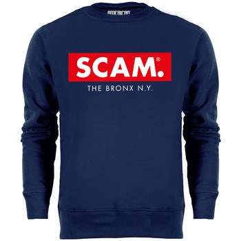 Clothing Men jumpers American Joggs Scam - Block Sweater - Navy Blue