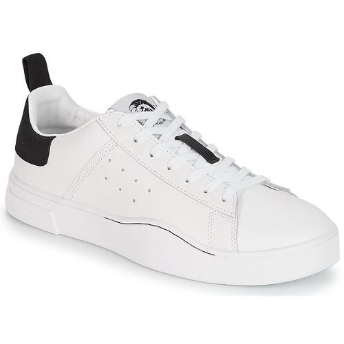 Shoes Men Low top trainers Diesel S-CLEVER LOW White / Black
