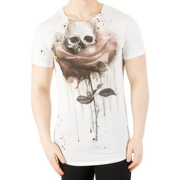 Clothing Men short-sleeved t-shirts Religion Men's Rose Painting T-Shirt, White white