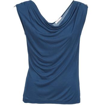 Clothing Women Tops / Sleeveless T-shirts DDP CARLA Marine