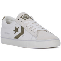 Shoes Men Low top trainers Converse PRO LEATHER VULC OX Bianco