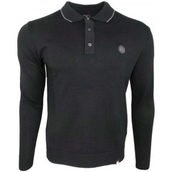 Clothing Men long-sleeved polo shirts Pretty Green LS Tipped Knitted Polo black