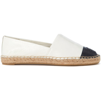 Shoes Women Espadrilles Tory Burch black and ivory leather espadrillas White