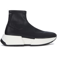 Shoes Women Hi top trainers Mm6 Maison Margiela black faux leather sock sneakers Black
