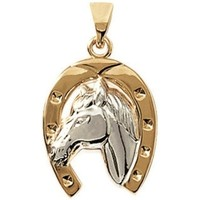 Watches Women Pendants Blue Pearls Yellow and White Gold Plated Horse Women Fancy Pendant Multicolored