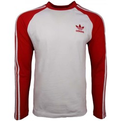 Clothing Men Long sleeved tee-shirts adidas Originals 3 Stripes LS Tee red