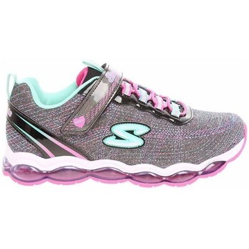 Shoes Girl Low top trainers Skechers S Lights Glimmer Lights Blackmulti 10833L Bkmt